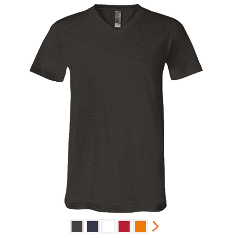 Customizable Bella & Canvas Short Sleeve V-Neck T-Shirt