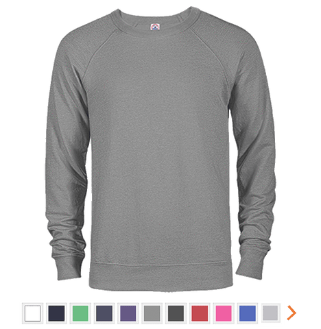 Customizable Delta French Terry Crew Sweatshirt