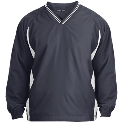 Sport-Tek Youth Tipped V-Neck Windshirt