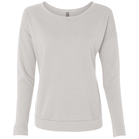 Next Level Ladies' French Terry Scoop Crew Sweatshirt