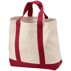 Port & Co. 2-Tone Shopping Tote