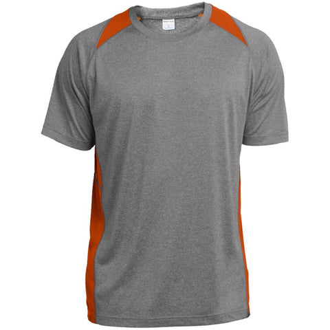 Sport-Tek Heather Colorblock Poly T-Shirt