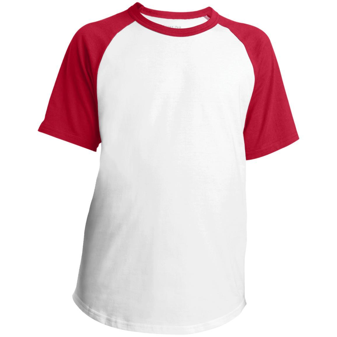 Sport-Tek Youth Short Sleeve Colorblock Raglan Jersey