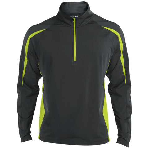 Sport-Tek Men's Sport Wicking Colorblock 1/2 Zip