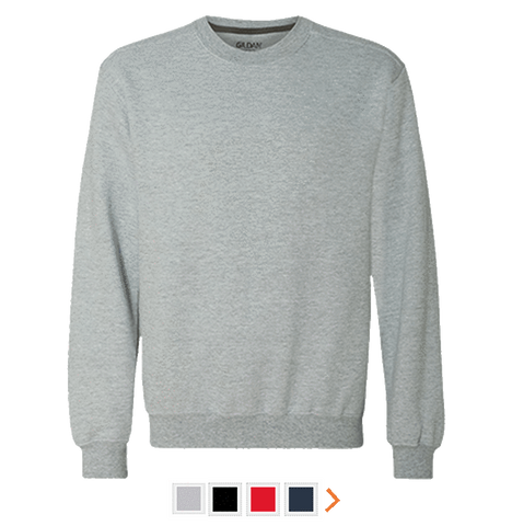 Customizable Men's Gildan Heavyweight Crewneck Sweatshirt