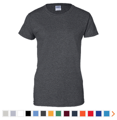 Customizable Gildan Ladies 100% Cotton Short Sleeve T-Shirt