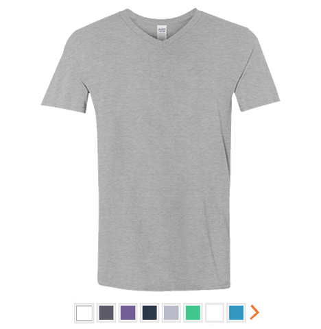 Customizable Gildan Men's Softstyle V-Neck T-Shirt