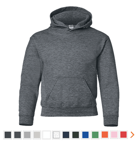 Customizable Gildan Youth Pullover Hoodie
