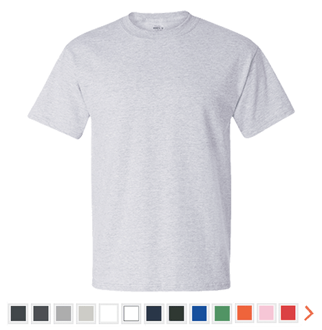 Customizable Hanes Cotton T-Shirt