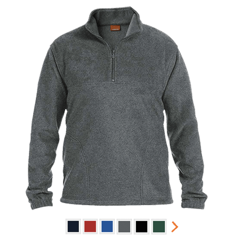 Customizable Harrison Quarter Zip Fleece Pullover