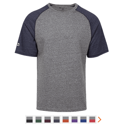 Customizable Holloway Tri-Blend Heathered T-Shirt