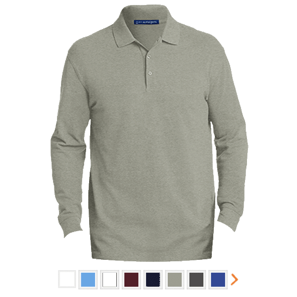 Customizable Port Authority Men's EZCotton™ Long Sleeve Polo