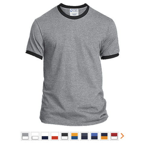 Customizable Port & Co. Ringer T-Shirt