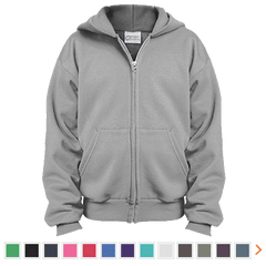 Customizable Port & Co. Youth Full Zip Hoodie