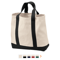 Customizable Port & Co. 2-Tone Shopping Tote