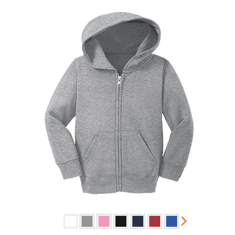 Customizable Precious Cargo Toddler Full Zip Hoodie