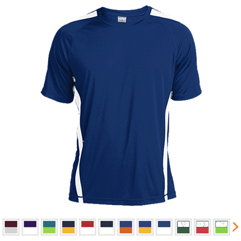 Customizable Sport-Tek Colorblock Dry Zone Crew