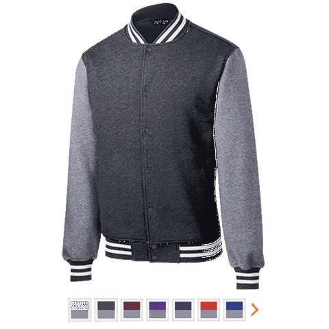 Customizable Sport-Tek Fleece Letterman Jacket
