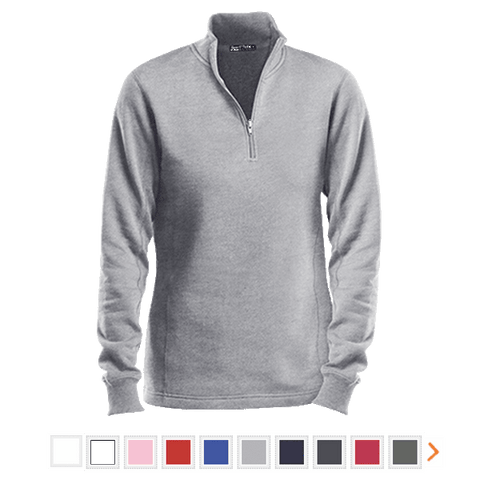 Customizable Sport-Tek Ladies 1/4 Zip Sweatshirt