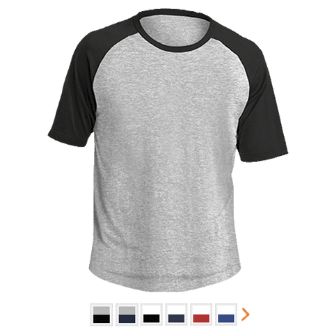 Customizable Sport-Tek Short Sleeve Colorblock Raglan Jersey