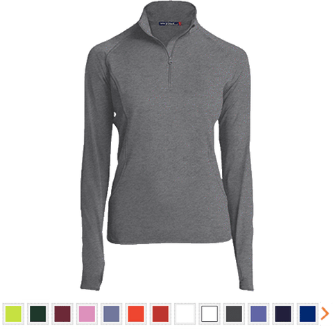 Customizable Sport-Tek Women's 1/2 Zip Performance Pullover