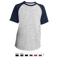 Customizable Sport-Tek Youth Short Sleeve Colorblock Raglan Jersey