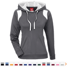 Customizable Team 365 Ladies' Colorblock Poly Hoodie