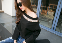 Korean Boat Neck Stylish Tee Black