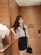 Korean Autumn Blooms Trumpet Blouse