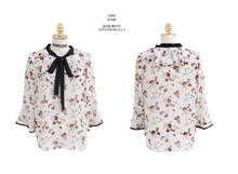 Autumn Blooms Trumpet Blouse