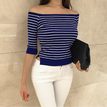 Nautical Off Shoulders Top