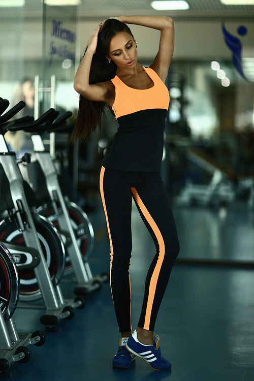 Basic Orange Low Rise Leggings