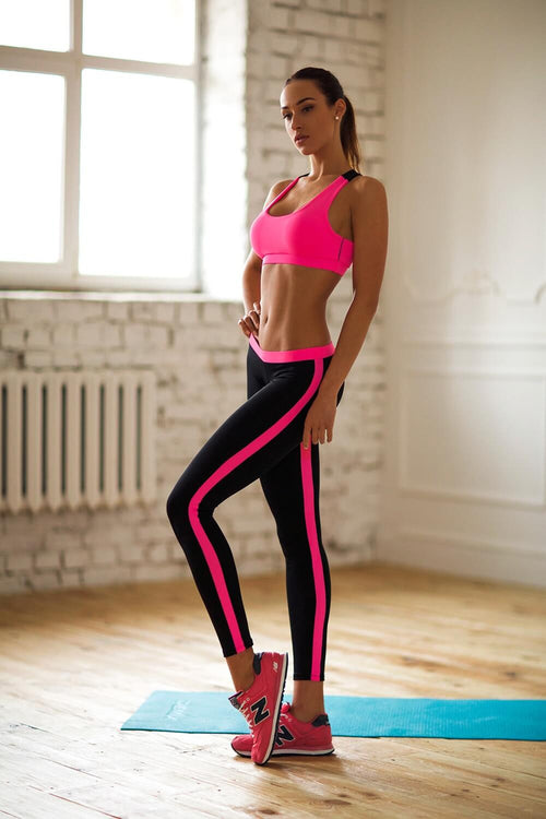 Basic Pink Low Rise Leggings