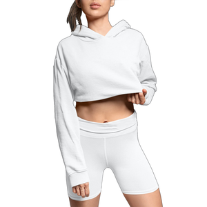 GODLY LOGO CROP HOODIE