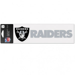 Las Vegas Raiders Decal 3x10 Perfect Cut Wordmark Color