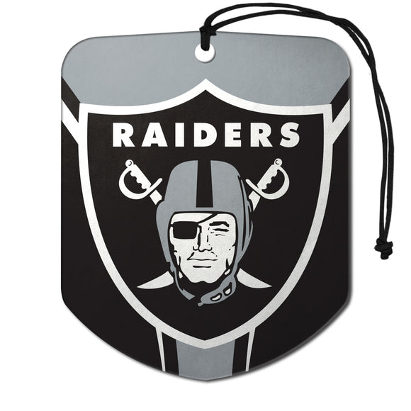 Las Vegas Raiders Air Freshener Shield Design 2 Pack