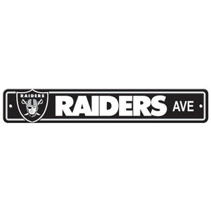 "Las Vegas Raiders NFL Street Sign 4"" X 24"" ""raiders Ave"""
