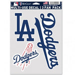 Los Angeles Dodgers  MLB Decal Multi Use Fan - Pack of 3
