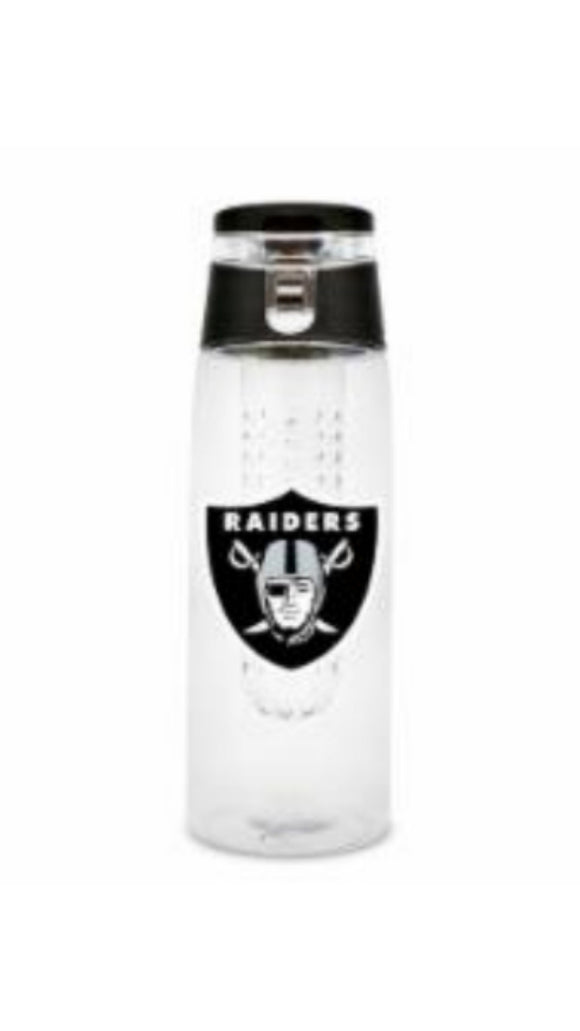 NFL Las Vegas Raiders 20oz Plastic Infuser Sport Bottle