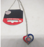 MLB Chicago Cubs Swirl Heart Necklace