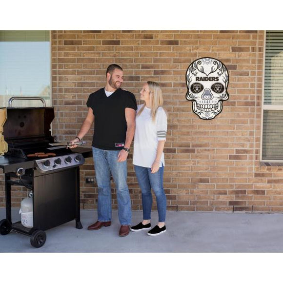Las Vegas Raiders Outdoor Skull Graphic- Large