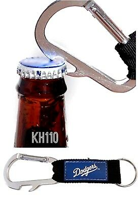 MLB Los Angeles Dodgers Official Carabiner Climbing Keychain Bottle Opener
