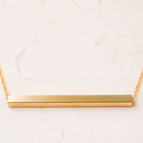 the Madelyn Gold Bar Necklace