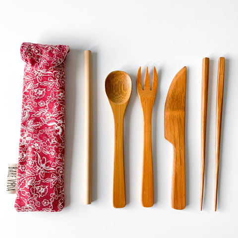 the Bamboo Utensil Set
