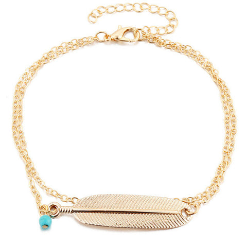 17KM 1PCS Vintage Anklets For Women Bohemian Ankle Bracelet Cheville Barefoot Sandals Pulseras Tobilleras Mujer Foot Jewelry-Devices Depot-BJCS047gold-KoolWish.com