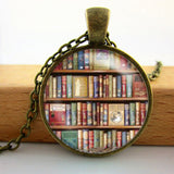 2017 Collares Collier Library Book Case Necklacevintage Style Gift For Students Teachers And Librarians Necklace ,old Books-Devices Depot-16-KoolWish.com