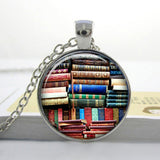 2017 Collares Collier Library Book Case Necklacevintage Style Gift For Students Teachers And Librarians Necklace ,old Books-Devices Depot-10-KoolWish.com