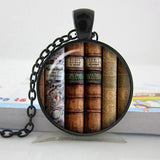 2017 Collares Collier Library Book Case Necklacevintage Style Gift For Students Teachers And Librarians Necklace ,old Books-Devices Depot-14-KoolWish.com