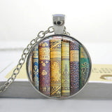 2017 Collares Collier Library Book Case Necklacevintage Style Gift For Students Teachers And Librarians Necklace ,old Books-Devices Depot-11-KoolWish.com