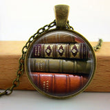2017 Collares Collier Library Book Case Necklacevintage Style Gift For Students Teachers And Librarians Necklace ,old Books-Devices Depot-15-KoolWish.com
